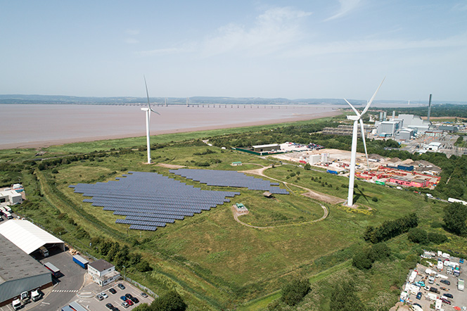 Bristol City Council Windfarm Aerial shot