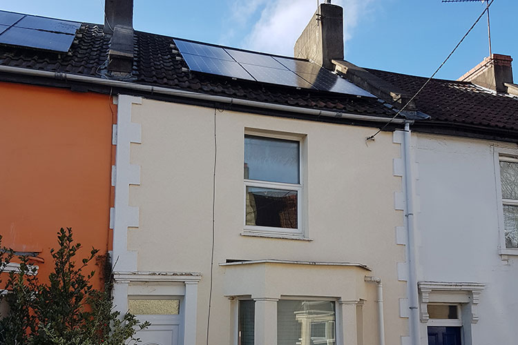 Andy's House showing solar panels on the roof.